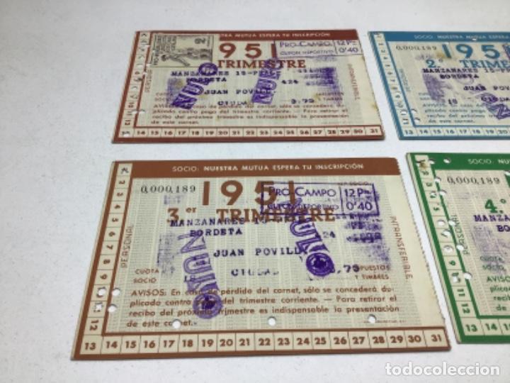 Coleccionismo deportivo: CARNET DE SOCIO F.C. BARCELONA - 4 TRIMESTRES AÑO 1951 - COMPLETO - Foto 6 - 243849465