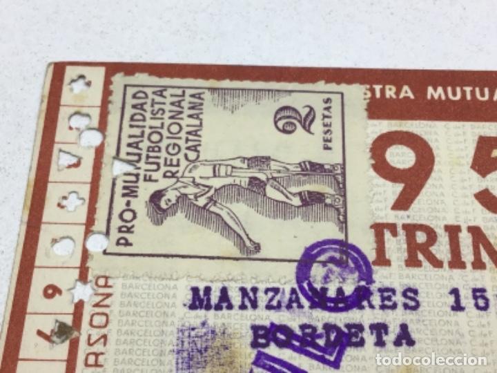 Coleccionismo deportivo: CARNET DE SOCIO F.C. BARCELONA - 4 TRIMESTRES AÑO 1951 - COMPLETO - Foto 7 - 243849465