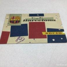 Coleccionismo deportivo: CARNET DE SOCIO F.C. BARCELONA - ANUAL AÑO 1960. Lote 243857815