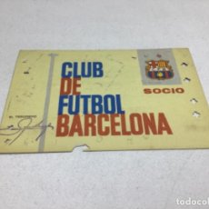 Coleccionismo deportivo: CARNET DE SOCIO F.C. BARCELONA - ANUAL AÑO 1965. Lote 243859285