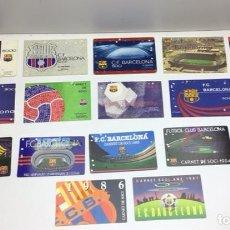 Coleccionismo deportivo: LOTE CARNETS DE SOCIO F.C. BARCELONA - ANUAL - DESDE AÑO 1971 HASTA 1987 - SON 17 CARNETS. Lote 243867345