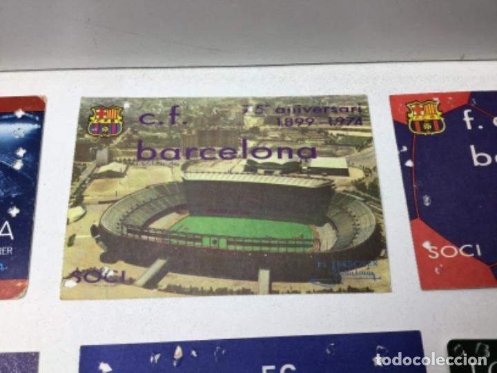 Coleccionismo deportivo: LOTE CARNETS DE SOCIO F.C. BARCELONA - ANUAL - DESDE AÑO 1971 HASTA 1987 - SON 17 CARNETS - Foto 6 - 243867345