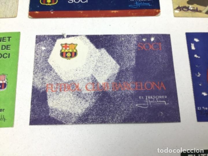 Coleccionismo deportivo: LOTE CARNETS DE SOCIO F.C. BARCELONA - ANUAL - DESDE AÑO 1971 HASTA 1987 - SON 17 CARNETS - Foto 10 - 243867345