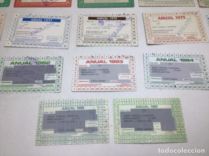 Coleccionismo deportivo: LOTE CARNETS DE SOCIO F.C. BARCELONA - ANUAL - DESDE AÑO 1971 HASTA 1987 - SON 17 CARNETS - Foto 22 - 243867345