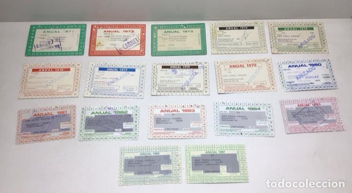 Coleccionismo deportivo: LOTE CARNETS DE SOCIO F.C. BARCELONA - ANUAL - DESDE AÑO 1971 HASTA 1987 - SON 17 CARNETS - Foto 2 - 243867345