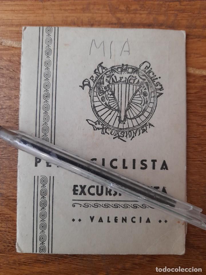 CARNET DE LA PEÑA CICLISTA EXCURSIONISTA DE VALENCIA 1951 CON VIÑETAS DEPORTES CICLISMO (Coleccionismo Deportivo - Documentos de Deportes - Carnet de Socios)