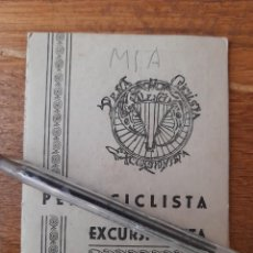 Coleccionismo deportivo: CARNET DE LA PEÑA CICLISTA EXCURSIONISTA DE VALENCIA 1951 CON VIÑETAS DEPORTES CICLISMO. Lote 245307140