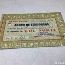 Coleccionismo deportivo: CARNET ABONO DE TEMPORADA 1949-1950 - GOL NORTE - F.C. BARCELONA. Lote 245570805