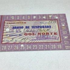 Coleccionismo deportivo: CARNET ABONO DE TEMPORADA 1951 -1952 - GOL NORTE - F.C. BARCELONA. Lote 245571235