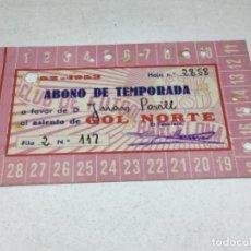Coleccionismo deportivo: CARNET ABONO DE TEMPORADA 1952 -1953 - GOL NORTE - F.C. BARCELONA. Lote 245571600