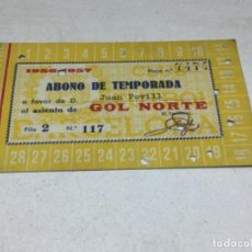 Coleccionismo deportivo: CARNET ABONO DE TEMPORADA 1956 -1957 - GOL NORTE - F.C. BARCELONA. Lote 245572075