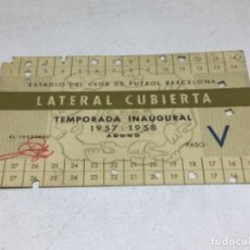 Coleccionismo deportivo: CARNET ABONO DE TEMPORADA 1957 -1958 - LATERAL CUBIERTA - F.C. BARCELONA. Lote 245572200