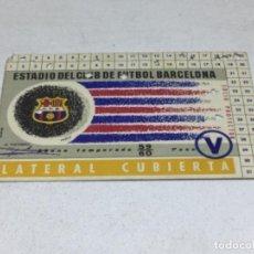 Coleccionismo deportivo: CARNET ABONO DE TEMPORADA 1959 - 1960 - LATERAL CUBIERTA - F.C. BARCELONA. Lote 245572825