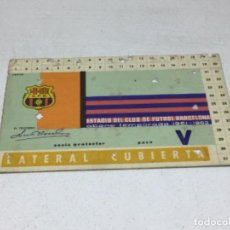 Coleccionismo deportivo: CARNET ABONO DE TEMPORADA 1961 - 1962 - LATERAL CUBIERTA - F.C. BARCELONA. Lote 245573215