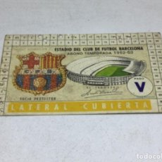 Coleccionismo deportivo: CARNET ABONO DE TEMPORADA 1962 - 1963 - LATERAL CUBIERTA - F.C. BARCELONA. Lote 245592735
