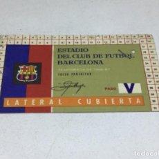 Coleccionismo deportivo: CARNET ABONO DE TEMPORADA 1966 - 1967 - LATERAL CUBIERTA - F.C. BARCELONA. Lote 245593210