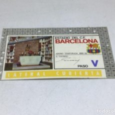 Coleccionismo deportivo: CARNET ABONO DE TEMPORADA 1968 - 1969 - LATERAL CUBIERTA - F.C. BARCELONA. Lote 245593415