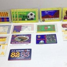 Coleccionismo deportivo: LOTE 14 CARNETS ABONO DE TEMPORADA AÑOS 1970 - 1971 HASTA 1982-1983 - F.C. BARCELONA. Lote 245594515