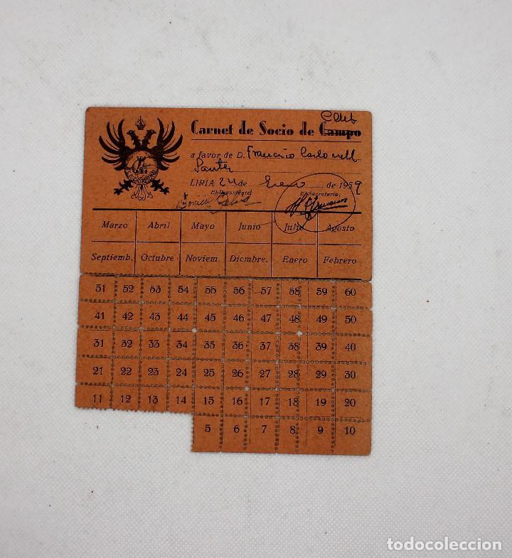 CARNET DE SOCIO DEL CLUB DE FUTBOL ORIMENDI DE LLIRIA VALENCIA (Coleccionismo Deportivo - Documentos de Deportes - Carnet de Socios)