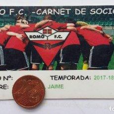 Coleccionismo deportivo: CARNET DE SOCIO ROMO FC VIZCAYA GETXO 2017-2018 REGIONAL. Lote 253791035
