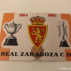 Coleccionismo deportivo: ABONO Ó CARNET REAL ZARAGOZA FÚTBOL TEMPORADA 1964-65 JULIO-AGOSTO. Lote 269351798