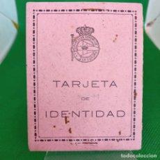 Coleccionismo deportivo: TARJETA DE IDENTIDAD CARNET DE SOCIO 1950 REAL CLUB DEPORTIVO DE LA CORUÑA. Lote 255451205