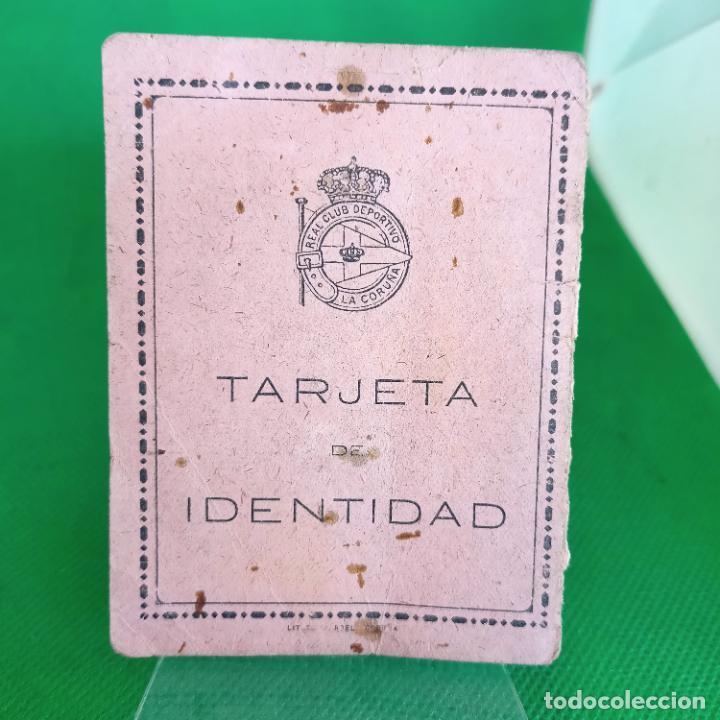 TARJETA DE IDENTIDAD CARNET DE SOCIO 1944 REAL CLUB DEPORTIVO DE LA CORUÑA (Coleccionismo Deportivo - Documentos de Deportes - Carnet de Socios)