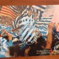 Coleccionismo deportivo: REAL CLUB DEPORTIVO ESPAÑOL ESPANYOL CARNET SOCIO 1992 ABONO ANUAL INFANTIL PERFECTO ESTADO. Lote 260796135