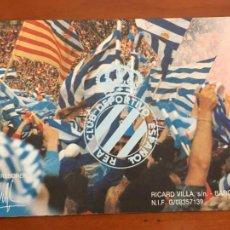 Coleccionismo deportivo: REAL CLUB DEPORTIVO ESPAÑOL ESPANYOL CARNET SOCIO 1992 ABONO ANUAL PERFECTO ESTADO. Lote 260796225