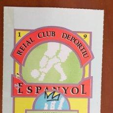 Coleccionismo deportivo: REAL CLUB DEPORTIVO ESPAÑOL ESPANYOL CARNET SOCIO 1991 ABONO ANUAL JUVENIL PERFECTO ESTADO. Lote 260796275