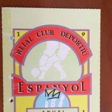 Coleccionismo deportivo: REAL CLUB DEPORTIVO ESPAÑOL ESPANYOL CARNET SOCIO 1991 ABONO ANUAL PERFECTO ESTADO. Lote 260796290
