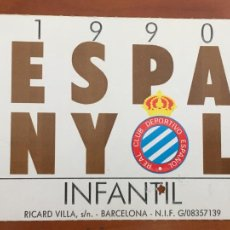 Coleccionismo deportivo: REAL CLUB DEPORTIVO ESPAÑOL ESPANYOL CARNET SOCIO 1990 ABONO ANUAL INFANTIL. Lote 260796425
