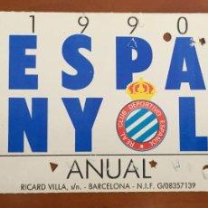 Coleccionismo deportivo: REAL CLUB DEPORTIVO ESPAÑOL ESPANYOL CARNET SOCIO 1990 ABONO ANUAL. Lote 260796480