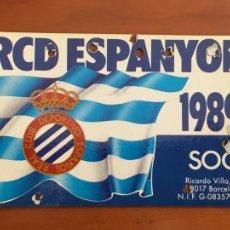 Coleccionismo deportivo: REAL CLUB DEPORTIVO ESPAÑOL ESPANYOL CARNET SOCIO 1989 ABONO ANUAL. Lote 260796630