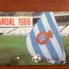 Coleccionismo deportivo: REAL CLUB DEPORTIVO ESPAÑOL ESPANYOL CARNET SOCIO 1986 ABONO ANUAL. Lote 260797310