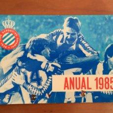 Coleccionismo deportivo: REAL CLUB DEPORTIVO ESPAÑOL ESPANYOL CARNET SOCIO 1985 ABONO ANUAL. Lote 260797480
