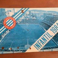 Coleccionismo deportivo: REAL CLUB DEPORTIVO ESPAÑOL ESPANYOL CARNET SOCIO 1984 ABONO ANUAL INFANTIL. Lote 260797635