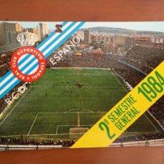 Coleccionismo deportivo: REAL CLUB DEPORTIVO ESPAÑOL ESPANYOL CARNET SOCIO 1984 ABONO ANUAL 2O SEMESTRE. Lote 260798365