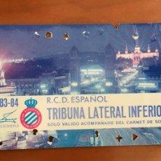 Coleccionismo deportivo: REAL CLUB DEPORTIVO ESPAÑOL ESPANYOL CARNET SOCIO 1983 84 ABONO ANUAL. Lote 260798475