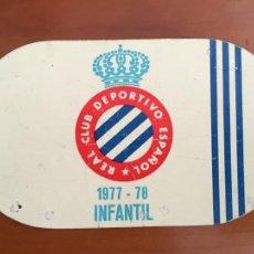 Coleccionismo deportivo: REAL CLUB DEPORTIVO ESPAÑOL ESPANYOL CARNET SOCIO 1977 78 ABONO ANUAL INFANTIL. Lote 260798845