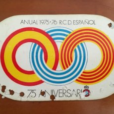 Coleccionismo deportivo: REAL CLUB DEPORTIVO ESPAÑOL ESPANYOL CARNET SOCIO 1975 76 ABONO ANUAL 75 ANIVERSARIO. Lote 260799010