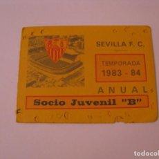 Coleccionismo deportivo: CARNET DE SOCIO JUVENIL B. SEVILLA F. C. TEMPORADA 1983-84.. Lote 261543720