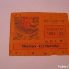 Coleccionismo deportivo: CARNET DE SOCIO INFANTIL. SEVILLA F. C. TEMPORADA 1983-84.. Lote 261543785