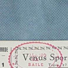 Coleccionismo deportivo: CARNET PASE VIP BAILE VENUS SPORT BARCELONA AÑOS 50 - MUY MUY RARO CON SELLO A26. Lote 262412230