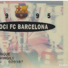Coleccionismo deportivo: CARNET DE SOCIO 1995. F. C. BARCELONA. 5,5X8,5 CM. BUEN ESTADO CON SIGNOS DE LA EDAD.. Lote 262418000