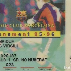Coleccionismo deportivo: CARNET DE SOCIO 1995-96. ABONAMENT. F. C. BARCELONA. 5,5X8,5 CM. BUEN ESTADO CON SIGNOS DE LA EDAD.. Lote 262418115
