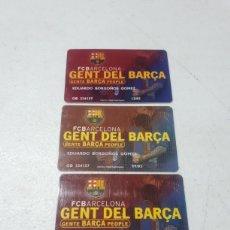 Coleccionismo deportivo: 3 CARNET DE SOCIO GENT DEL BARÇA FC BARCELONA AÑO 2004 2005. Lote 262548250