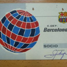 Collectionnisme sportif: CARNET DE SOCIO CLUB DE FUTBOL BARCELONA 4 TRIMESTRE AÑO 1964. Lote 264461954