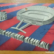 Collectionnisme sportif: CARNET DE SOCIO CLUB DE FUTBOL BARCELONA -1º TRIMESTRE 1963. Lote 264462764