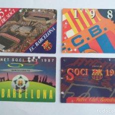Collectionnisme sportif: LOTE 5 CARNETS DE SOCIO ANTIGUOS AÑOS 1985 - 1986 -1987 -1988 ORIGINALES FUTBOL CLUB BARCELONA. Lote 267685824